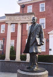 [photo, Thurgood Marshall Memorial Statue, Lawyers' Mall, College Ave. & Rowe Blvd., Annapolis, Maryland]