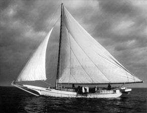 [photo, Skipjack under sail on Chesapeake Bay, Maryland]