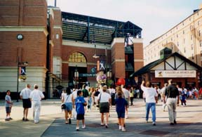 [photo, Gate C entrance, Oriole Park at Camden Yards, Eutaw St., Baltimore, Maryland]