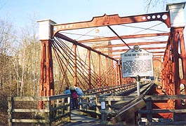 [photo, Bollman Iron Truss Bridge at Savage Mill, 8600 Foundry St., Savage, Maryland]