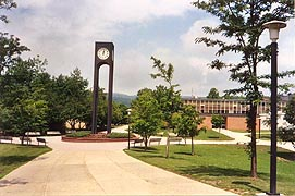[photo, Clock Tower, Frostburg State University, Frostburg, Maryland]