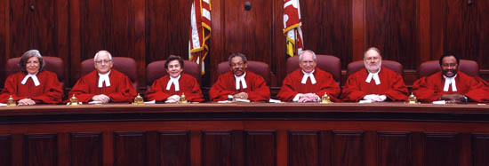 [photo, Court of Appeals Judges, Annapolis, Maryland, 2004]