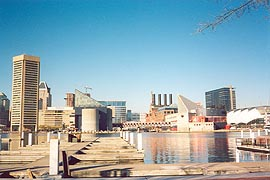 [photo, Skyline from Federal Hill, Baltimore, Maryland]