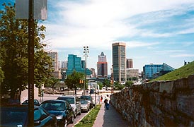 [photo, Baltimore skyline (from Battery Ave., Federal Hill), Baltimore, Maryland]