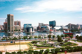 [photo, Baltimore skyline (view from atop Federal Hill Park), Baltimore, Maryland]