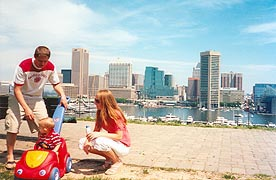 [photo, Skyline from Federal Hill Park, Baltimore, Maryland}