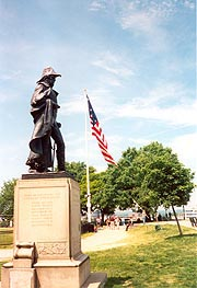 [photo, Major General Samuel Smith statue (1917),  by Hans Schuler, Federal Hill Park, Baltimore, Maryland]