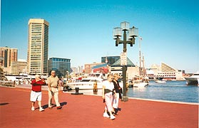 [photo, People strolling at Inner Harbor, Baltimore, Maryland]