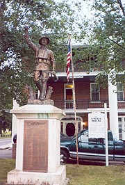 [American Doughboy statue, by E. M. Viquesney (1922?), in front of Emmit House, Main St., Emmitsburg, Maryland]