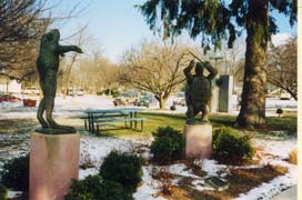 [photo, City Hall Park, frog and tortoise sculpture, 31 South Summit Ave., Gaithersburg, Maryland]